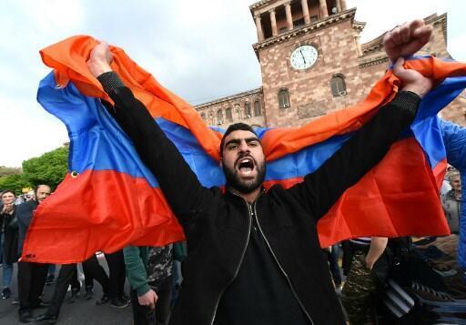 Протесты в Армении, 22 апреля 2018 год.