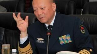 图为中国海军司令吴胜利