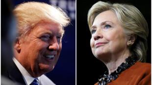 美國2016年總統大選兩位主要候選人特朗普與希拉里克林頓