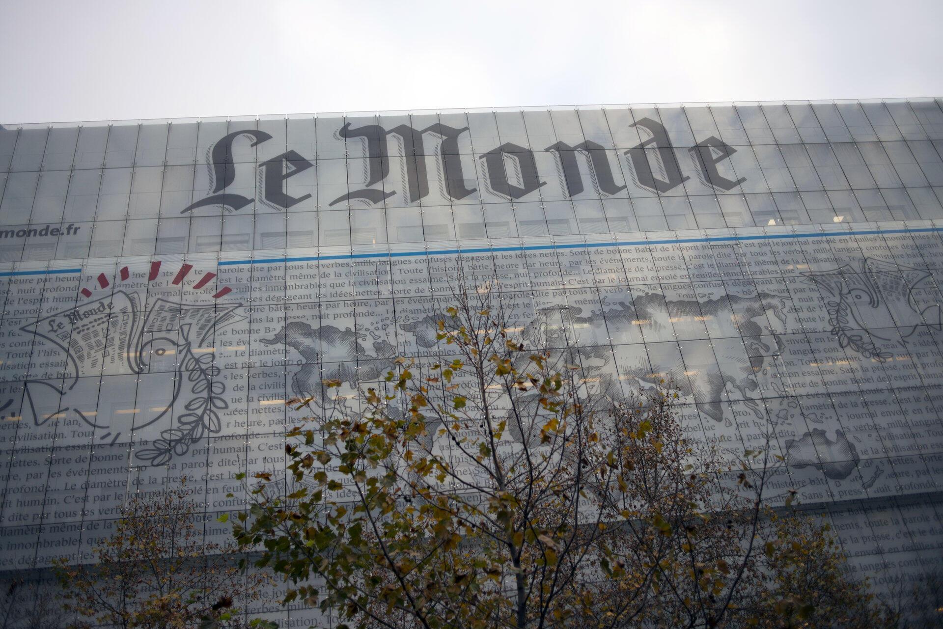 Le siège du journal français «Le Monde» à Paris.