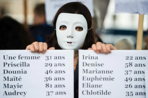 Activists have staged a series of protests across France in recent months to highlight the issue of 'feminicide', the murder of women, often by their husband or former partner