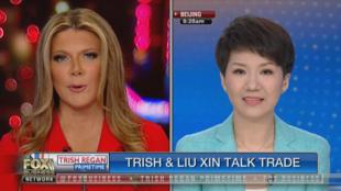 Les présentatrices Liu Xin et Trish Regan ont débattus en direct pendant 16 minutes sur Fox Business Network.