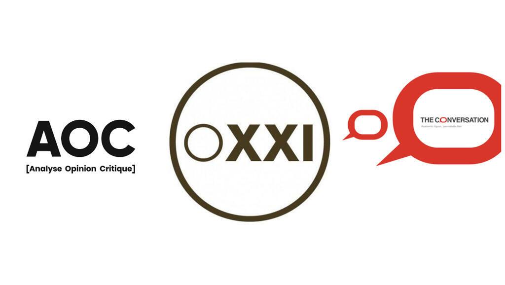 Collage : AOC, Orient XXI, The Conversation France.