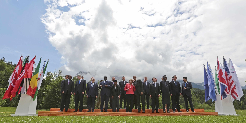 Les dirigeants des pays du G7 et leurs invités se sont réunis au château d'Elmau, dans les Alpes bavaroises, les 7 et 8 juin 2015.