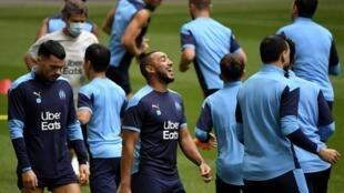 Les joueurs de l'Olympique de Marseille à l'entraînement. Photo datée du 11 septembre 2020.