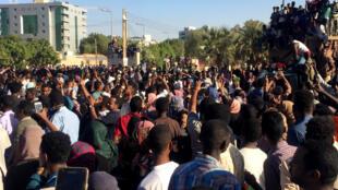 Maandamano yanayomtaka rais al-Bashir kujiuzulu, Khartoum, Aprili 6, 2019.
