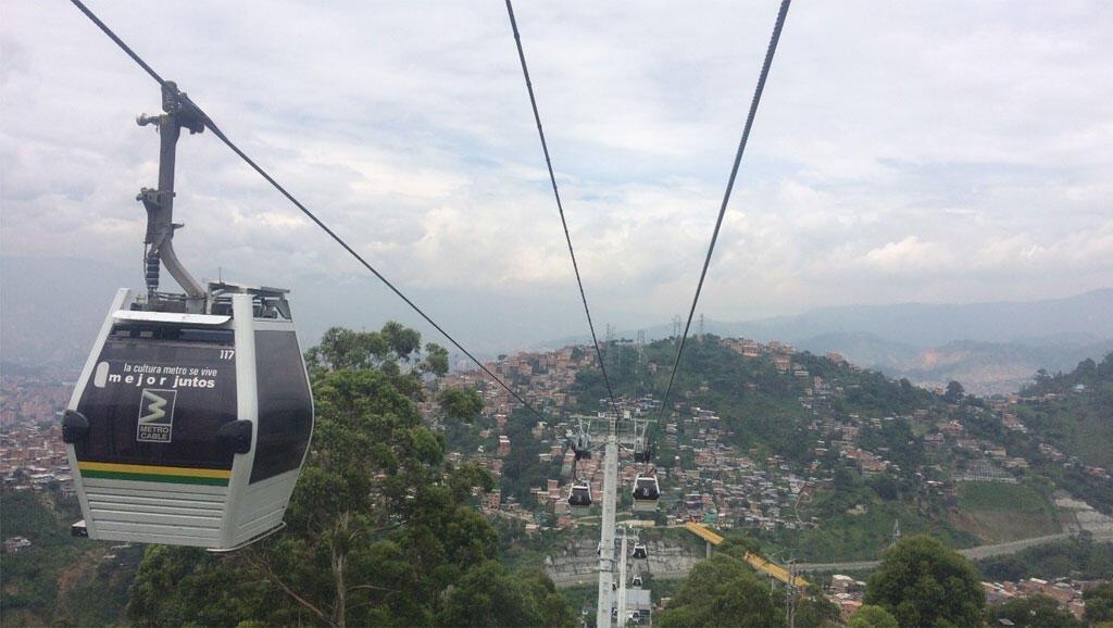 Métrocable à Medellin, Colombie.