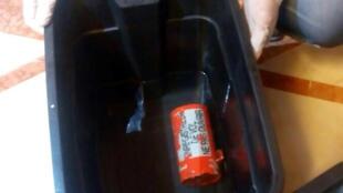 Um dos gravadores recuperados do Airbus A320 da EgyptAir, que caiu no mar Mediterrâneo no dia 19 de maio.
