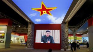 Durante el décimonoveno Congreso del partido comunista chino, el 10 de octubre de 2017.
