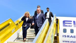 Firaministan Isra'ila Benyamin Netanyahu, a filin jiragen saman 'Entebbe, Uganda 4 yulin  2016