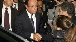 Francois Hollande after visiting the families of Sofiane and Kevin killed in a park in Echirolles on Monday