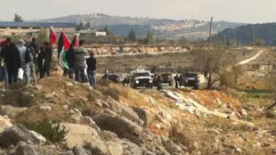 Face à face entre manifestants palestiniens et armée israélienne à Nabi Saleh.