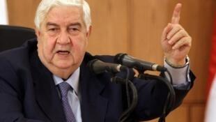 Walid Mouallem waziri wa mambo ya nje wa serikali ya rais Bashar al Assad