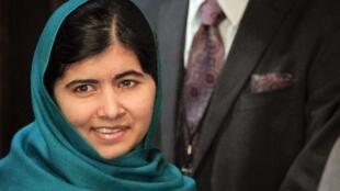 Jovem Malala Yousafzai estava em Nova York nesta sexta-feira.