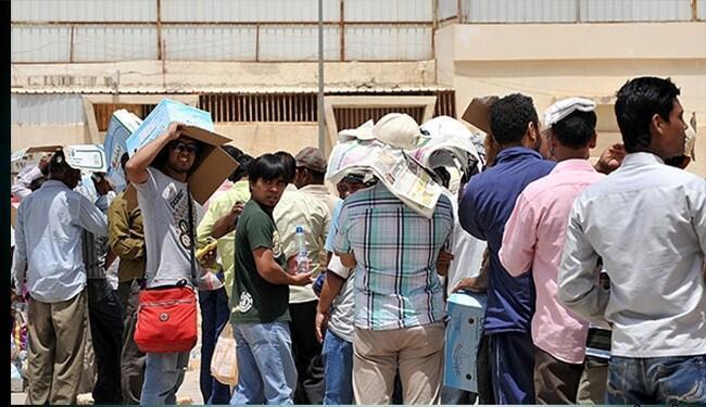کارگران هندی بیکار شده در عربستان