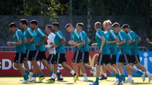 Đội tuyển Đức tập luyện trước khi vào trận. Ảnh chụp ngày 16/06/2018.