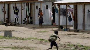 Katika kambi ya wakimbizi kaskazini mwa Sri Lanka, Mei mwaka 2009.