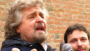Beppe Grillo, líder do Movimento Cinco Estrelas.