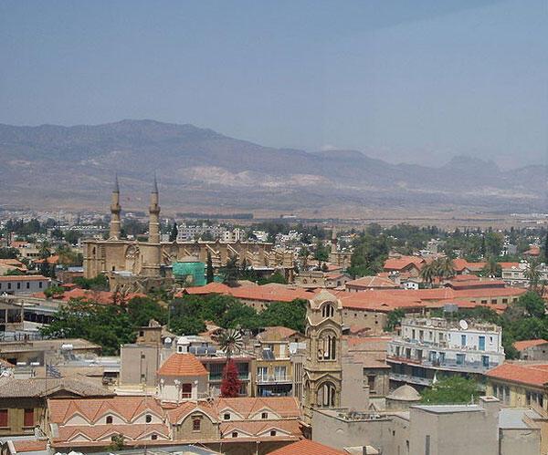 Une vue de Nicosie à Chypre.