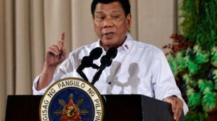 Le président Rodrigo Duterte lors d'un discours à Manille aux Philippines, le 19 décembre 2016.