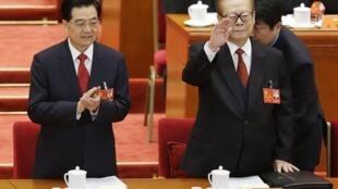 Tổng bí thư Hồ Cẩm Đào trong phiên khai mạc đại hội Đảng 18, ngày 08/11/2012.