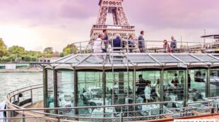 """法国厨神杜卡斯在塞纳河开启""""水上餐厅""""  (Ducasse sur Seine)"""