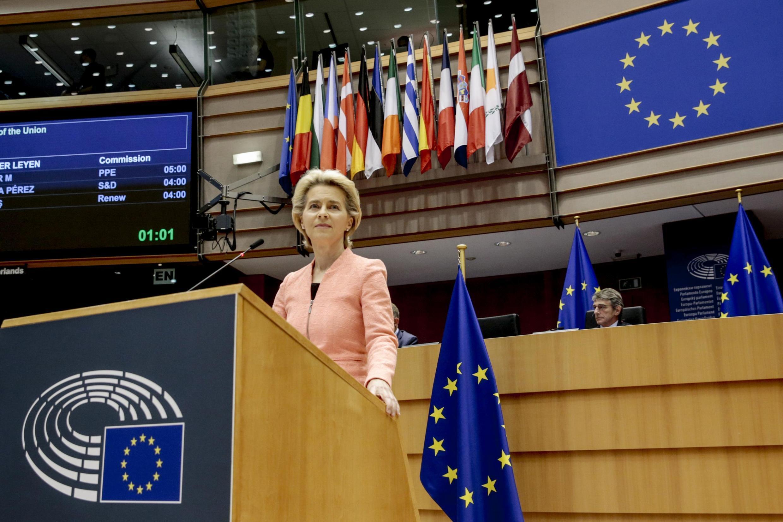 La présidente de la Commission européenne Ursula von der Leyen a annoncé qu'elle entendait rehausser l'objectif de réduction des émissions de gaz à effet de serre de l'Union européenne pour 2030.