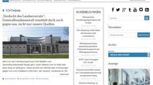 Capture d'écran du site allemand Netzpolitik.org, le 31 juillet 2015.