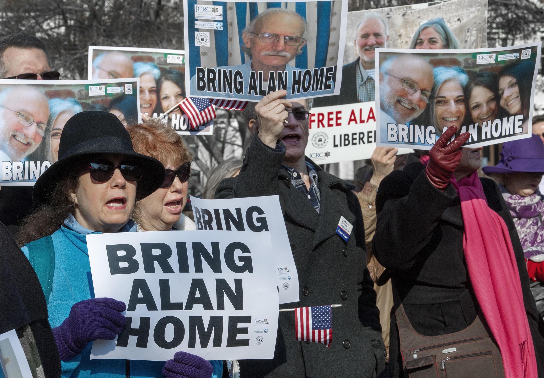 Manifestación para pedir la liberación de Alan Gross, este 3 de diciembre en Washington.