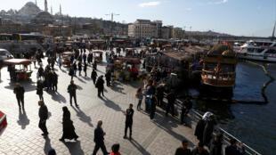 Vue du quartier d'Eminonu, à Istanbul.