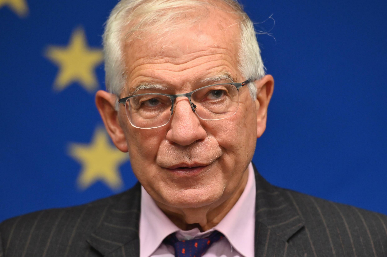 El Alto Representante de la Unión Europea para Asuntos Exteriores, Josep Borrell, durante una rueda de prensa tras la reunión informal de ministros de Asuntos Exteriores de la UE, el 20 de septiembre de 2021 en Nueva York