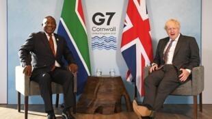 ramaphosa afrique sud g7 johnson