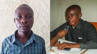 Gilbert Msenga, président de la société civile locale et Benjamin Bishibe Byabele, chef du secteur de l'environnement.