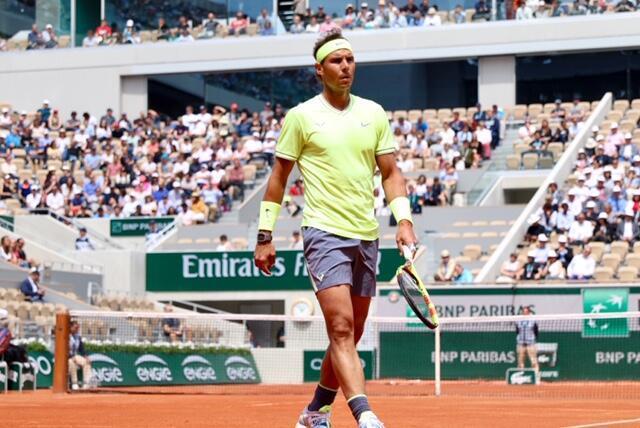 Rafael Nadal se estrenó con victoria en Roland Garros frente al alemán Yannick Hanfman (6/2 6/1 6/3) el lunes 27 de Mayo de 2019.