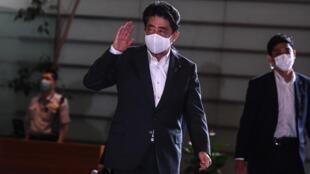 Le Premier ministre démissionnaire du Japon, Shinzo Abe, à Tokyo, le 31 août 2020.