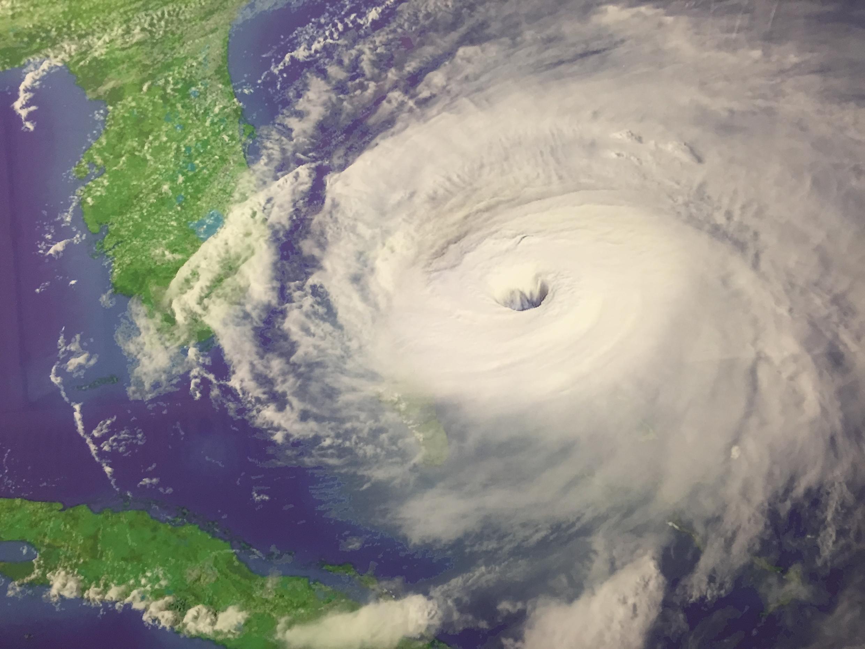 Vue satellite d'un ouragan.