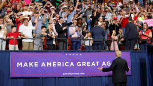 دونالد ترامپ در یک میتینگ تبلیغاتی در مونتانا