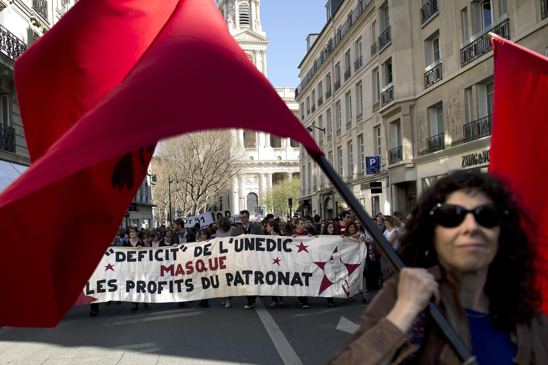 Manifestación de los 'intermitentes del espectáculo' en París.