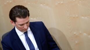 Sebastian Kurz est devenu le premier chancelier autrichien à être renversé par le Parlement. Ici à Vienne, le 27 mai 2019.