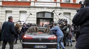 Strauss-Kahn chegou na manhã desta terça-feira para o interrogatório na cidade de Lille, norte da França.