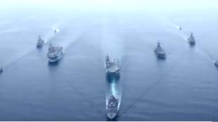 日美法澳在東海舉行聯合海上軍演