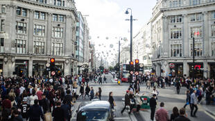 Vue d'Oxford Street, à Londres.