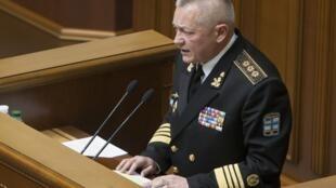 Игорь Тенюх выступает с заявлением об отставке в Верховной Раде Украины 25/03/2014