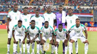 L'équipe du Sénégal lors de son premier match de la CAN 2019 face à la Tanzanie.