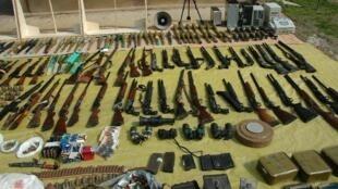 Ces armes auraient été découvertes par l'armée de Bachar el-Assad dans la chute de la ville de Homs. Ici, en mars 2012.