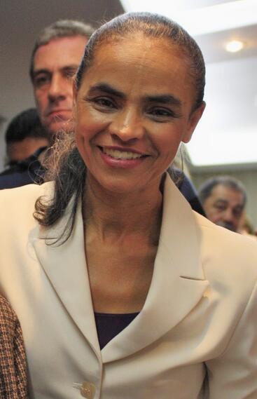 A ex-senadora Marina Silva durante campanha presidencial em 2010.