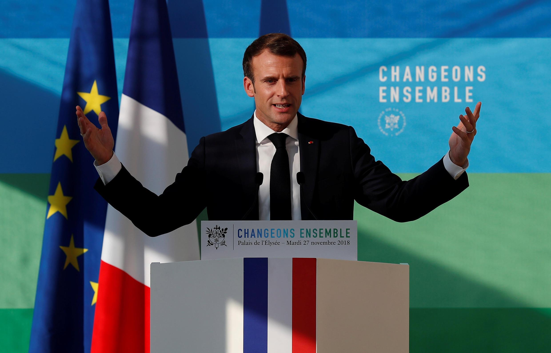 Emmanuel Macron, lors de son discours relatif à la stratégie et à la méthode pour la transition écologique, le 27 novembre 2018.