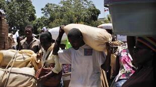 L'activité économique reprend au ralenti en Haïti. Ici, dans la ville de Ouanaminthe, à la frontière de la République dominicaine.