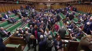 La Chambre des communes du Parlement britannique se vide mercredi soir 13 mars après le vote rejetant le Brexit sans accord.