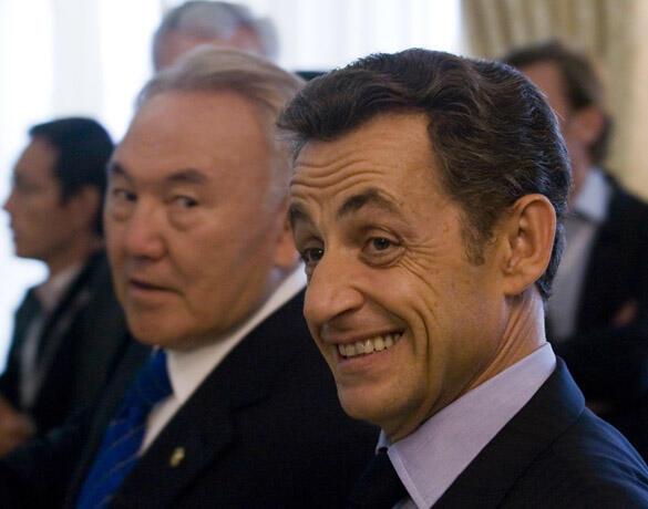 Нурсултан Назарбаев и Николя Саркози